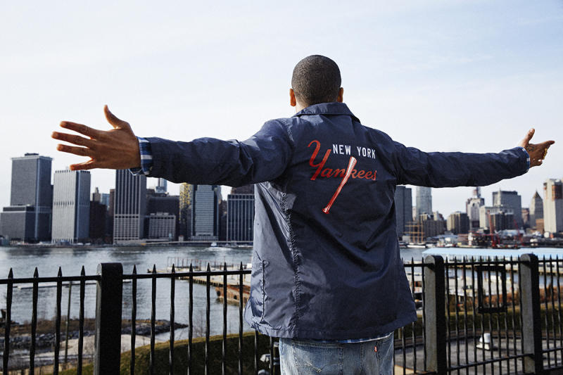 Exclusive: Mack Wilds Models the New Levi's x MLB New York Yankees Capsule Collection news