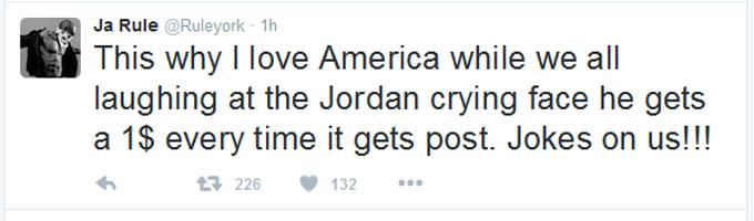 Ja Rule Thinks Michael Jordan Gets Money For The Crying Jordan - Michael jordan us map crying