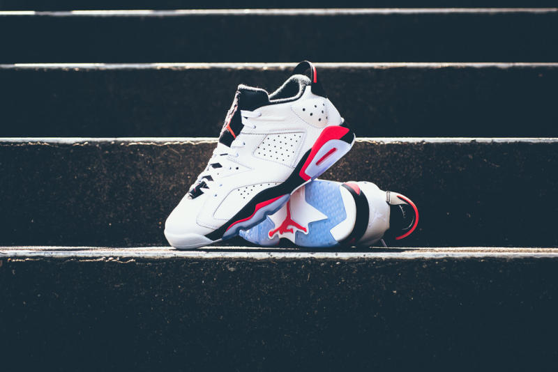 "nike shox designs - Air Jordan VI Low Retro ""White/Infrared 23"" Release Date 