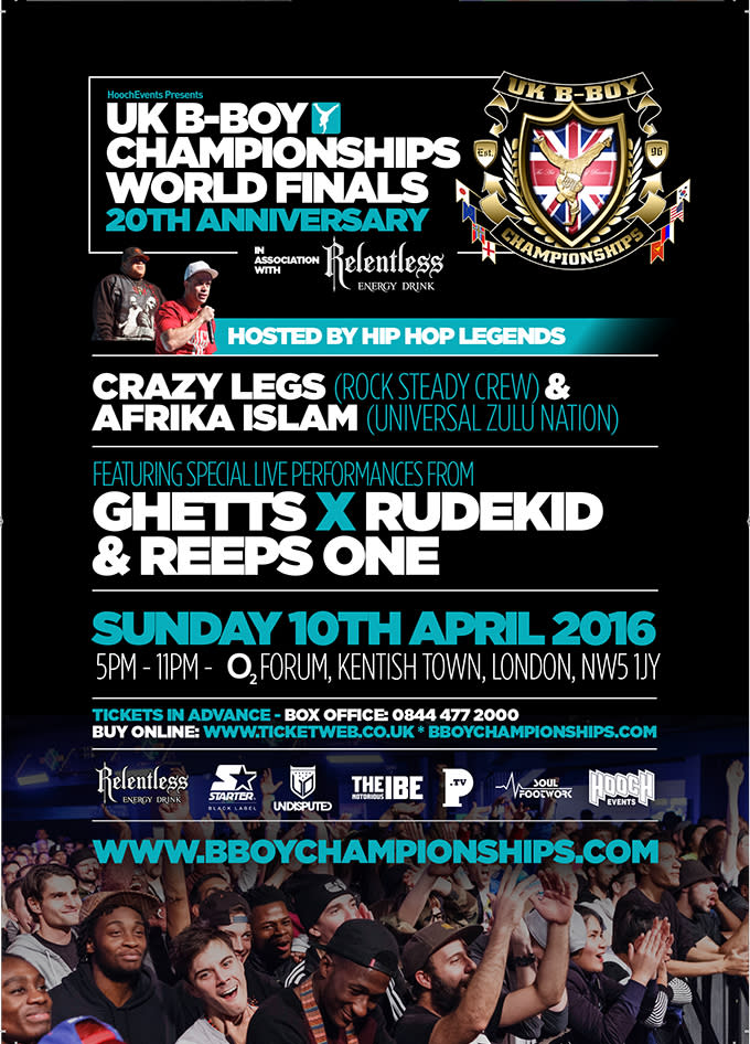 Win Tickets To The 20th Anniversary Of The UK B Boy Championship World Finals news