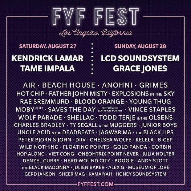 Kendrick Lamar, Tame Impala, and LCD Soundsystem to Headline FYF Fest news