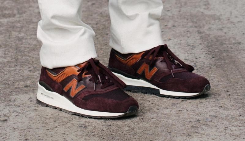 new balance 998 distinct retro ski on feet