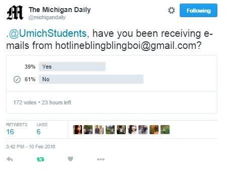 An Expert Troll Is Emailing University of Michigan Students Drake Lyrics news