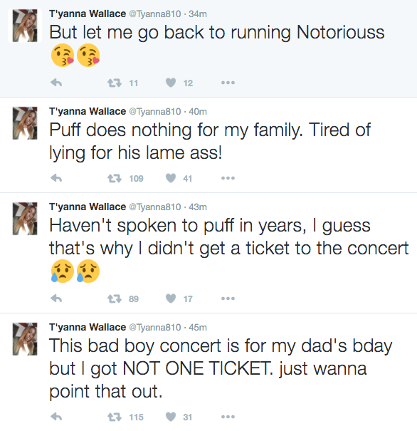 The Notorious B.I.G.'s Daughter Speaks Out Against Puff Daddy's Bad Boy Reunion Concert news