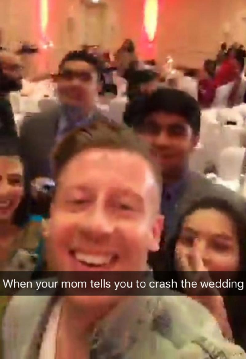 Hilarious Photos Show Macklemore and His Mom Crashing a D.C. Wedding news