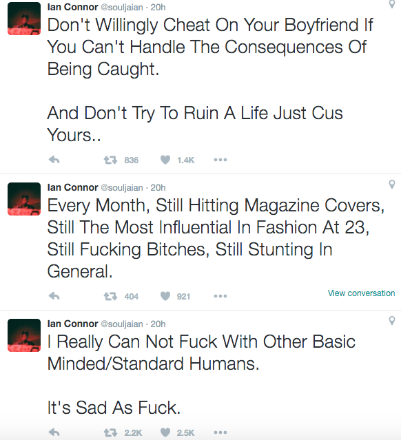 Ian Connor Went on Twitter Rant After Another Woman Accuses