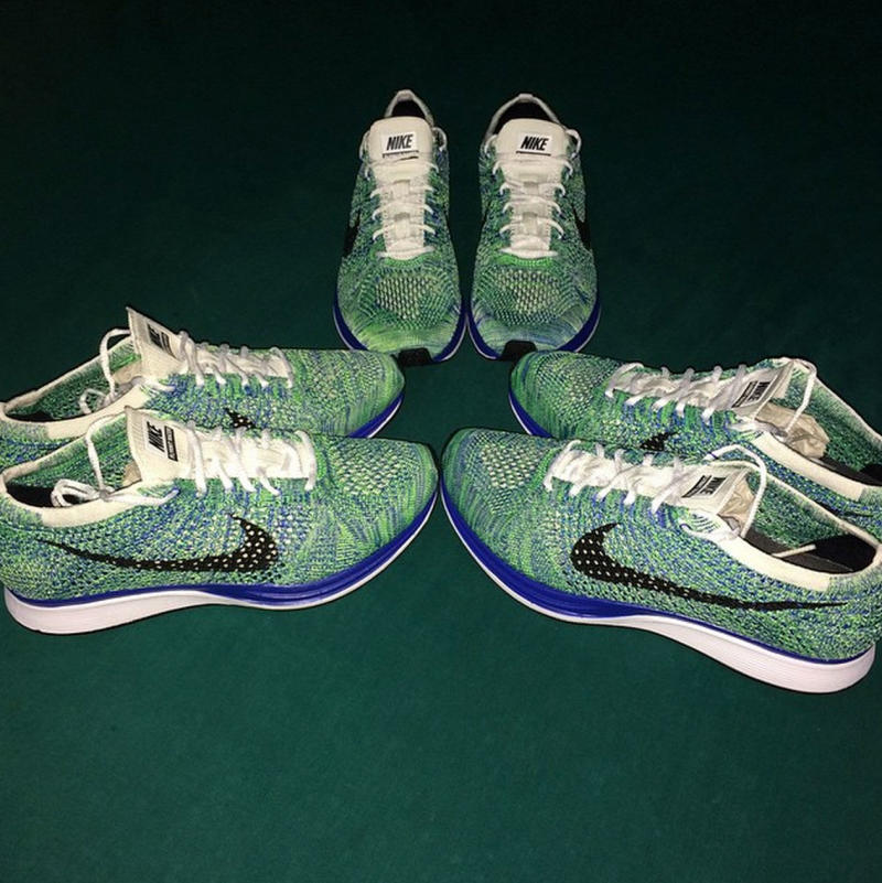 d68269bfcd33 ... real nike flyknit racer white game royal green stike black nike flyknit  racer . 4eed9 10197