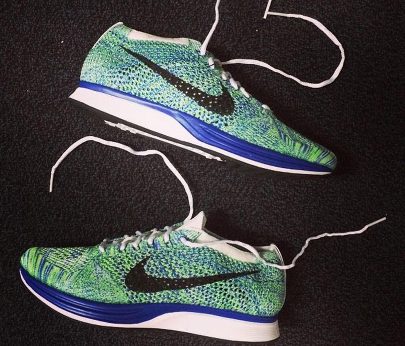 new photos 67ddd f2869 Nike Flyknit Racer Royal Green