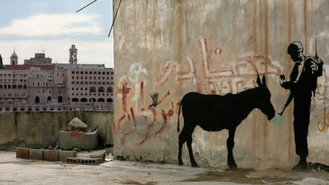 Banksy 39 s 39 donkey documents 39 and detroit mural will sell for Banksy mural sold