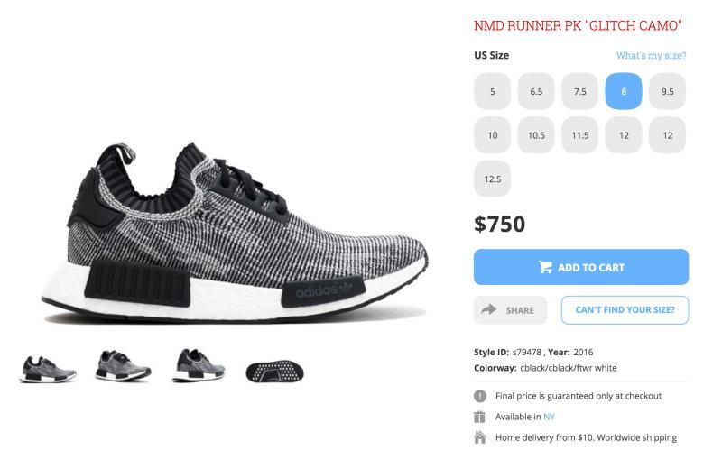adidas nmd price
