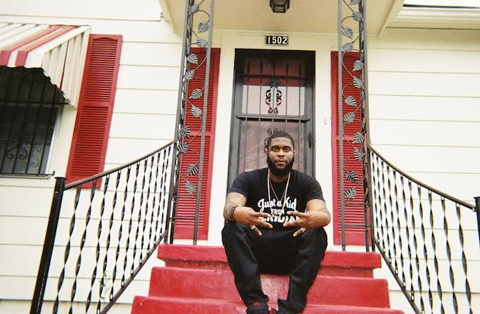 Big K.R.I.T. in his hometown of Meridian, Mississippi