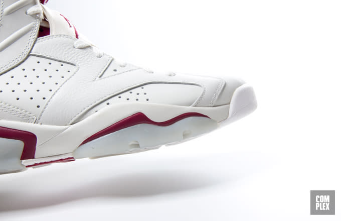 """The Air Jordan 6 """"Maroon"""" launches this Saturday, December 5 for $220."""