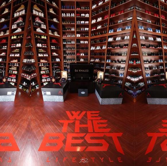 Dj khaled sneaker collection complex - Michael jordan bedroom decor ...