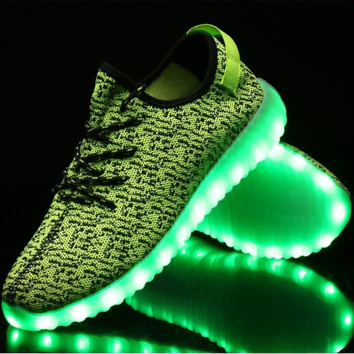 adidas yeezy with led