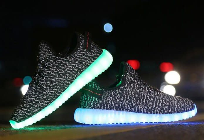 original led yeezys
