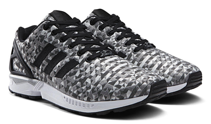 Adidas Zx Flux Black And White Prism