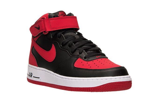 Nike Air Force Black Red