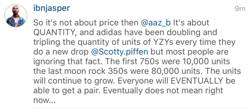 adidas Yeezy Boost Production Numbers