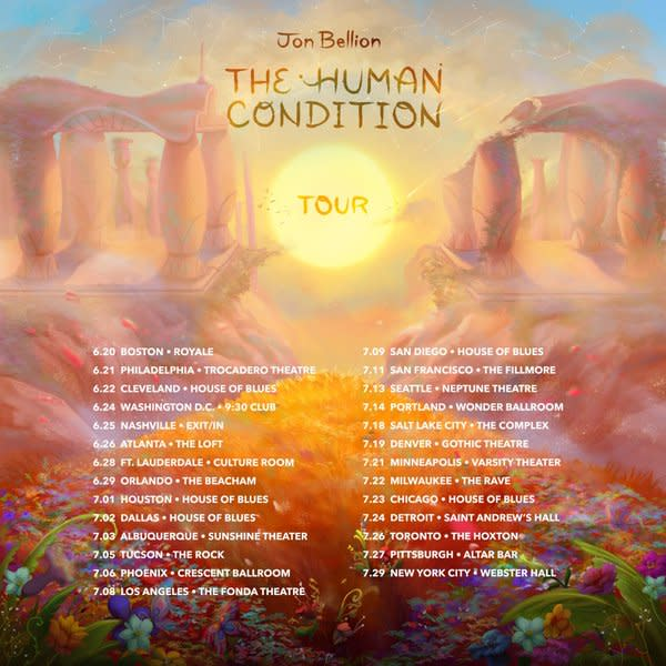 idk maybe Jon bellion shared his new single, an inspirational anthem called maybe idk, and discusses his upcoming album, 'the human condition'.