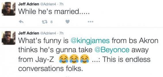 Former NBA Player Jeff Adrien Claims LeBron James Is Trying to Steal Beyoncé From Jay Z in Twitter Rant news
