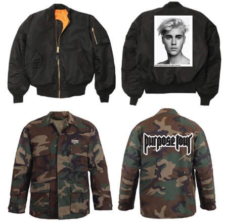 Exclusive First Look: Justin Bieber's 'Purpose' Tour Merch news