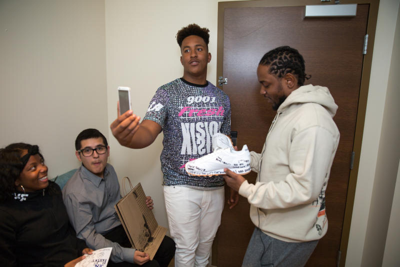 Kendrick Lamar Hooked Compton High School Students Up With Reebok Sneakers and Took Them to the Grammy's news