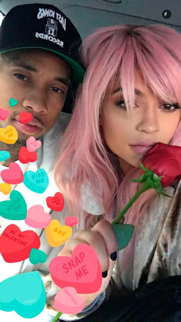 Kylie Jenner and Tyga Spend Valentines Day in a Helicopter, Just Like Us news