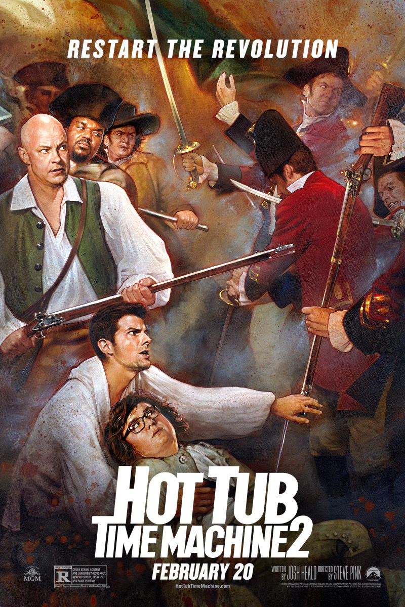 hot tub time machine 2 posters show history all messed. Black Bedroom Furniture Sets. Home Design Ideas