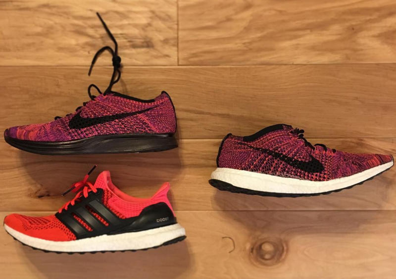 adidas ultra boost or nike flyknit. Black Bedroom Furniture Sets. Home Design Ideas