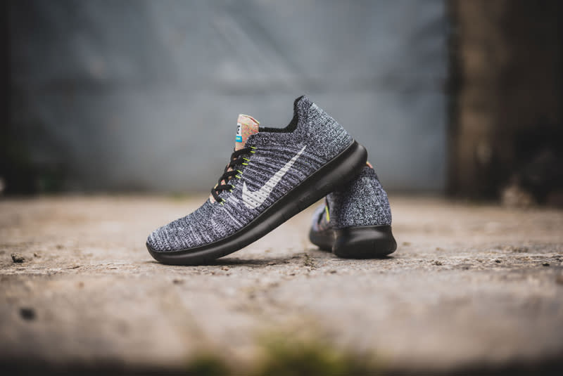 ... mens running shoes 11 black multi color 717075 011 Nike Free RN Flyknit  ...