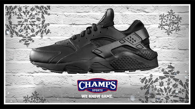 """promo code d7bf2 122aa The Black """"Shoeflake"""" Nike Air Huarache Presented by Champs ..."""