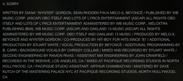 Check Out the Production and Writing Credits for Beyoncés LEMONADE news