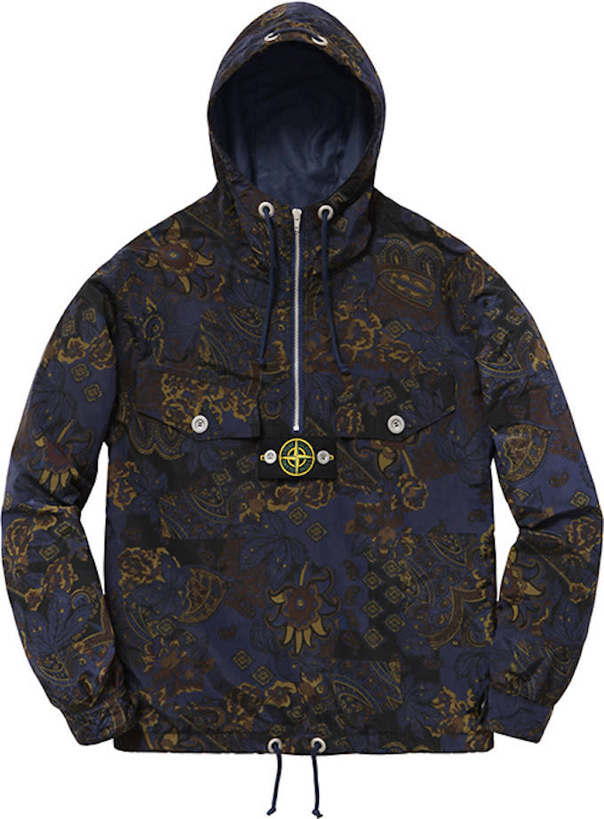 the supreme x stone island spring 2015 collection. Black Bedroom Furniture Sets. Home Design Ideas