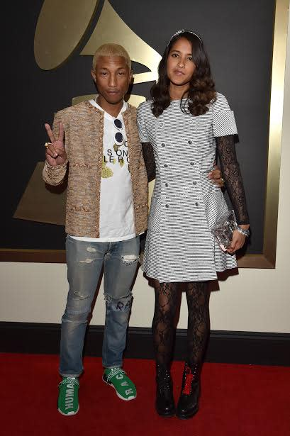 wholesale dealer b6966 ebaf6 Pharrell Williams Wears New adidas Sneakers to Grammys | Complex