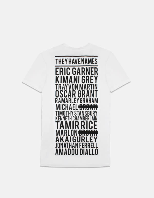 Pyer Moss Shows Black Lives Matter With Tees Featuring Names of ...