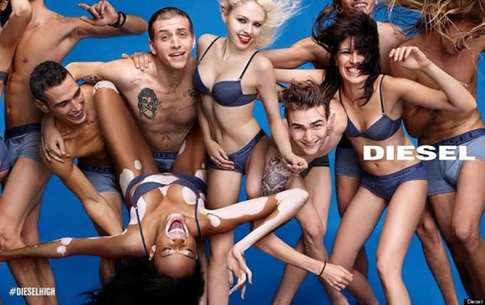 Winnie Harlow stars in Diesel's spring 2015 campaign