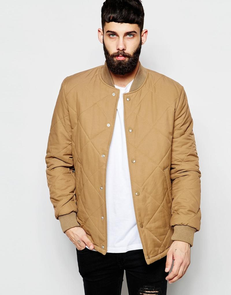 Images of Tan Bomber Jacket - Reikian