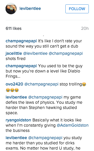 Drake's Ping Pong Trash Talk Game on Instagram Is Highly Entertaining news