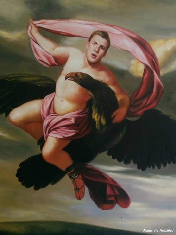 Super Bowl Players Plugged Into Classic Artwork Complex