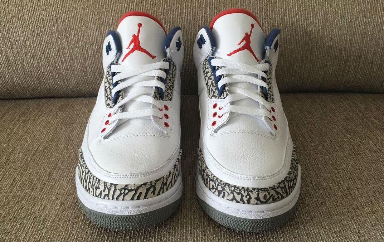 Air Jordan 3 Retro White True Blue shoes