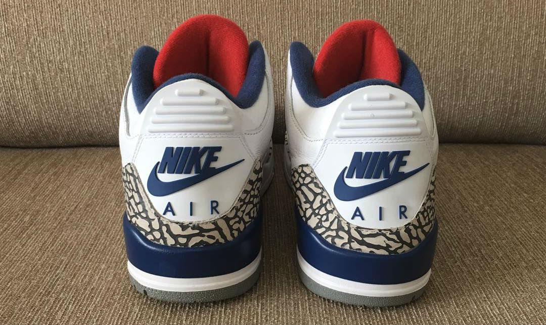 True Blue Jordan 3 Nike Air OG Heel 854262-106