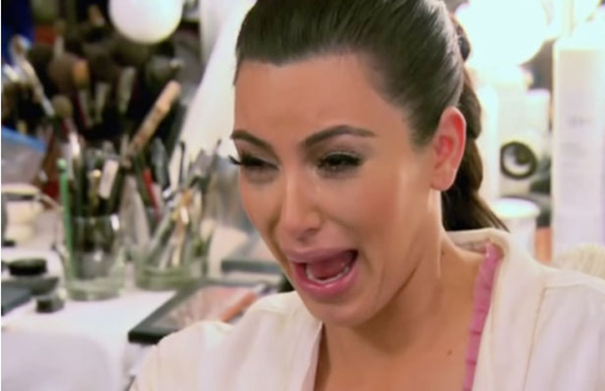 Image result for kim kardashian crying face