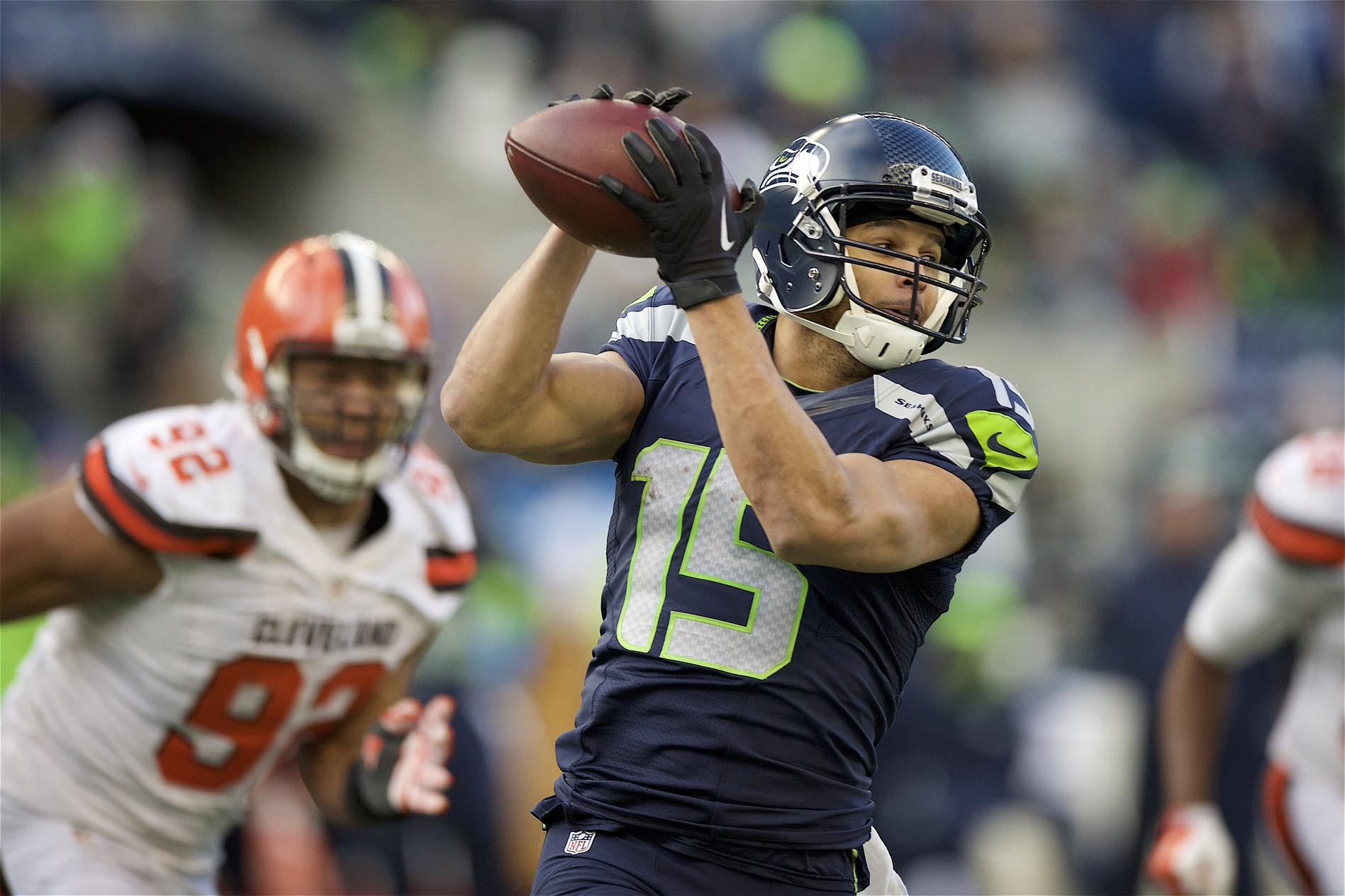 Tyler Lockett Seahawks Catch 2015 Browns