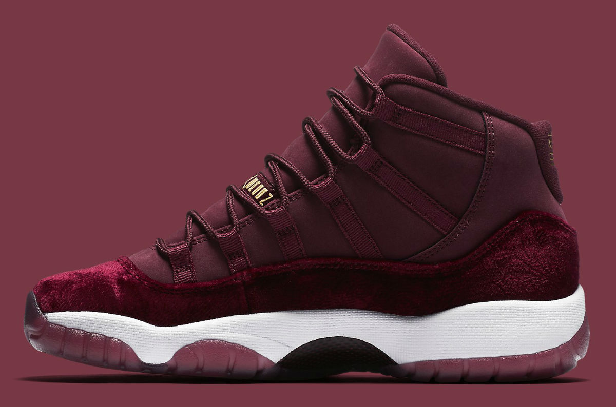 Air Jordan 11 GG Red Velvet Heiress Release Date Medial 852625-650 7793604ab