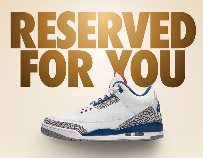 """Air Jordan 3 """"True Blue"""" Early"""