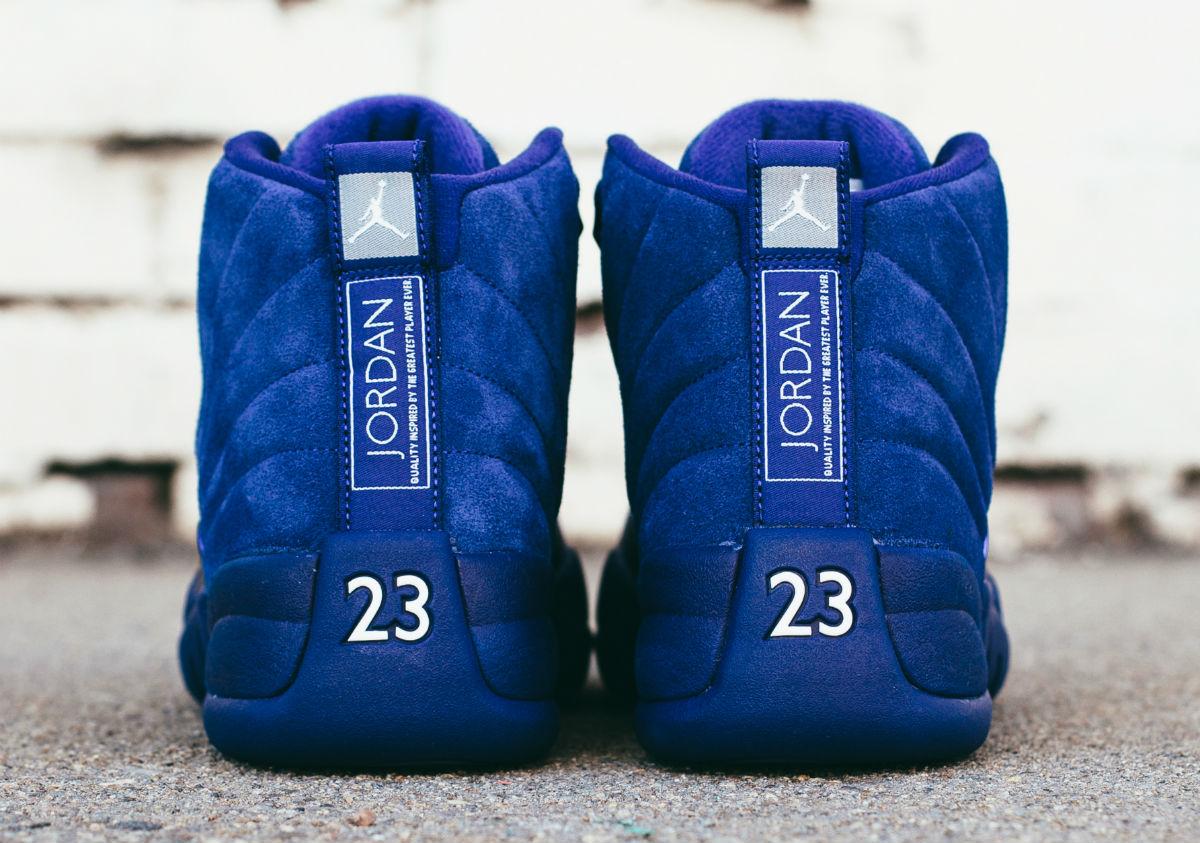 Air Jordan 12 Blue Suede Heel 130690-400