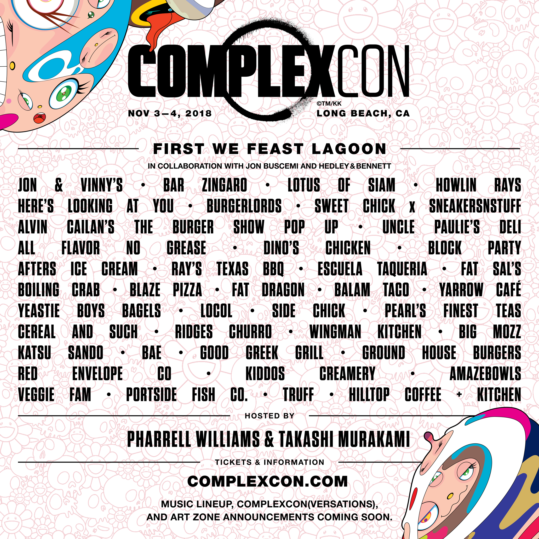 The First We Feast's culinary lineup at ComplexCon revealed