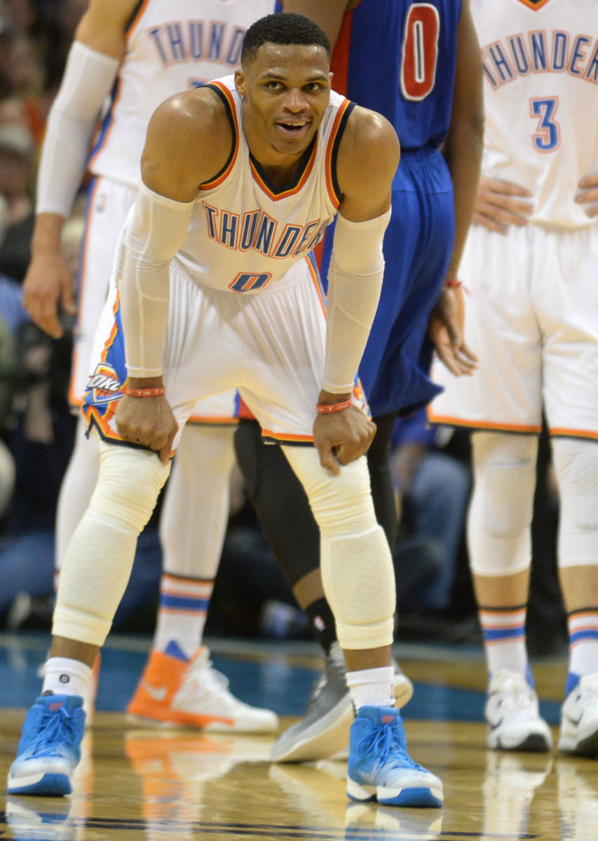 Russell Westbrook Air Jordan 31 OKC Blue PE Kneel
