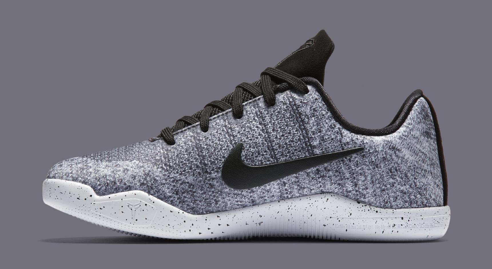 Nike Kobe 11 Oreo Kids 822945-100 Medial