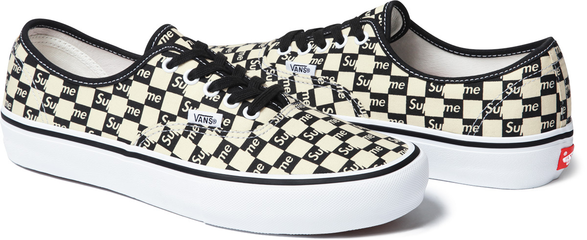 442c333f1bee1c Image via Supreme Supreme Vans Authentic Checker Black